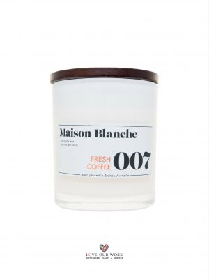 Fresh Coffee aromas on demand. Fragrant Maison Blanche Hand-poured 80 H