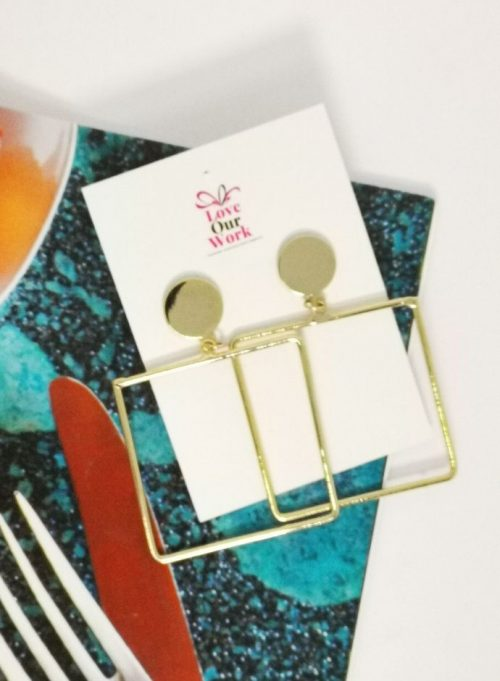 Large Square Hoops Earrings are a stunning subtle statement