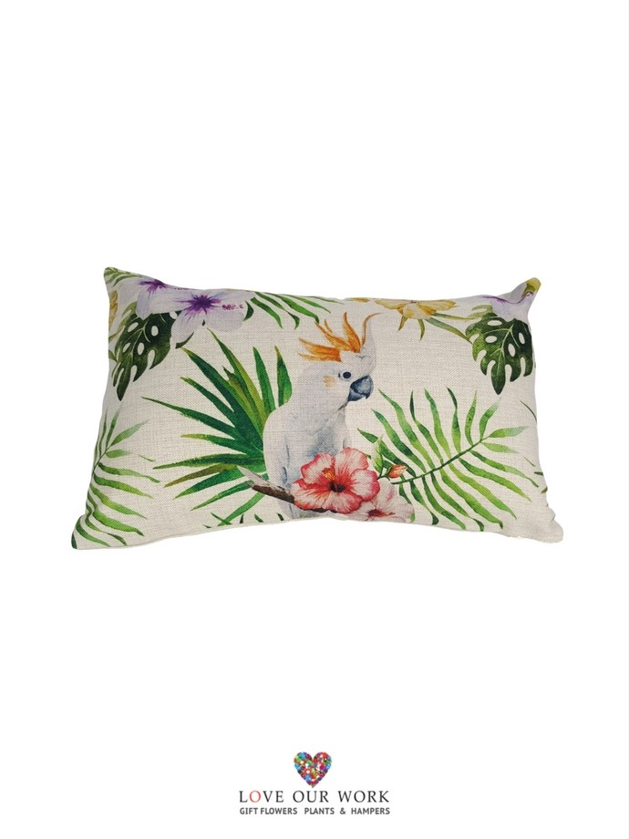 Cockatoo cushions are luxuriously soft to the touch.