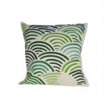 green wave cushions are luxuriously soft to the touch.