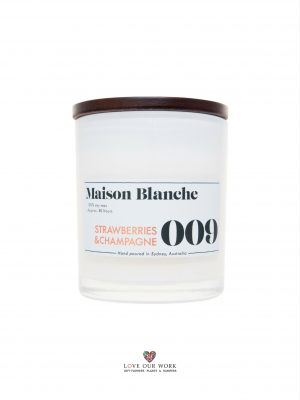 Fragrant strawberries & champagne with a hint of rose. Maison Blanche