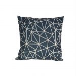 navy geometric cushions luxuriously soft touch.