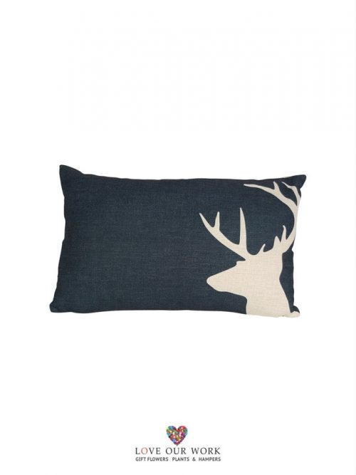 navy dear cushions are luxuriously soft to the touch.