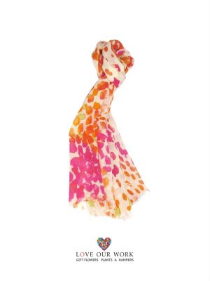 Wool Hot Pink and Orange Scarf is made from a beautiful light weight 100% Wool