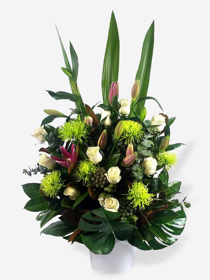 The Grand Entrance Lilies Rose Arrangement