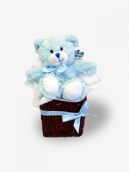 It's a Boy! Blue Bear Gift Basket