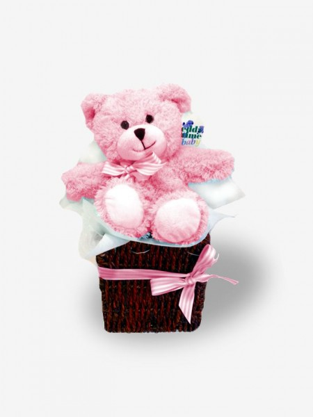 It's a Girl! Pink Bear Gift Basket