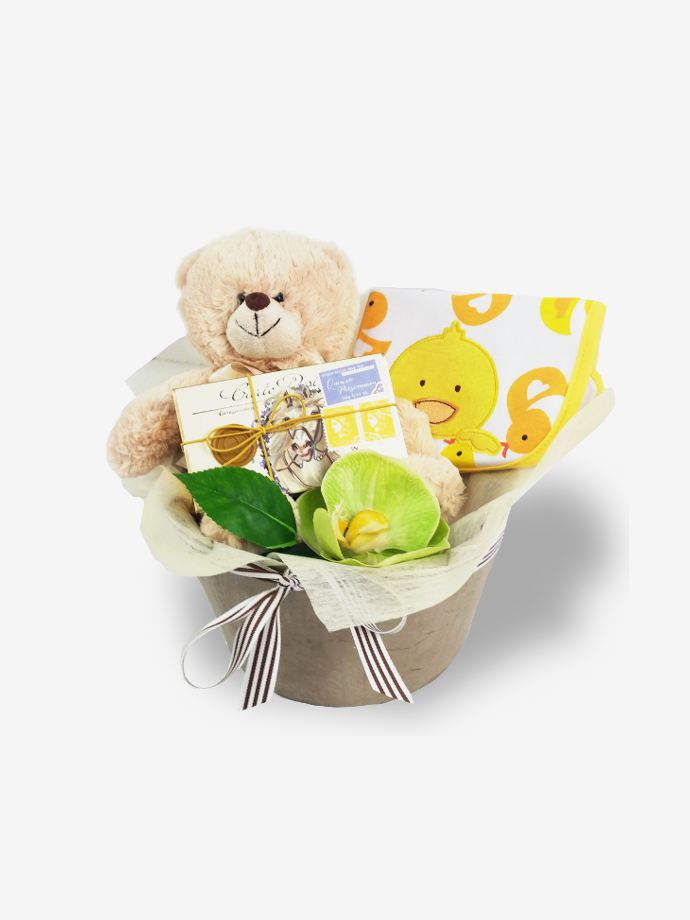 New Baby 'We Don't Know' Gift Basket