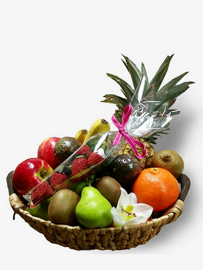 Deluxe Basket of Fresh Fruit