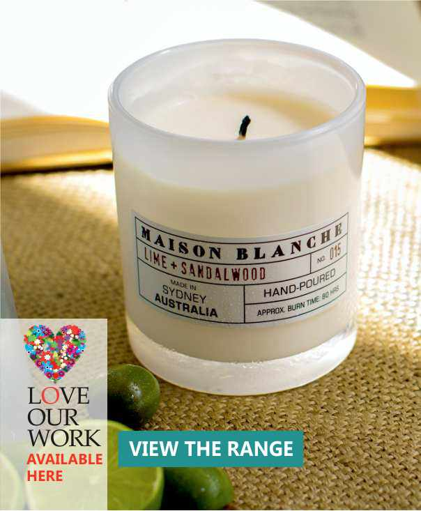 Lemon & Sandalwood Soy Wax Candle